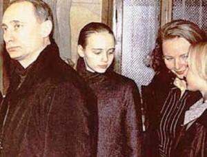 Путин-жена-и-две-дочери-Путина