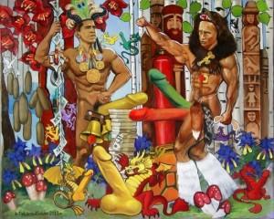 картина-Реслинг-c-Путиным-и-Обамой-из-Музея-эротического-искусства-Точка-джи-650x520