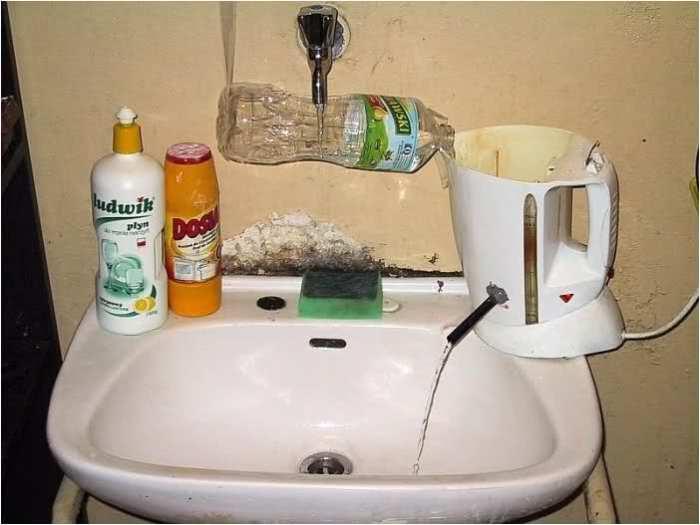 Русский изобретатель смастерил себе водонагреватель