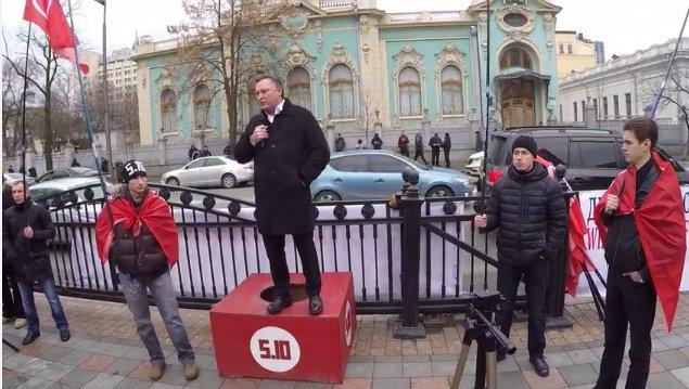 Выступление Балашова возле Верховной Рады