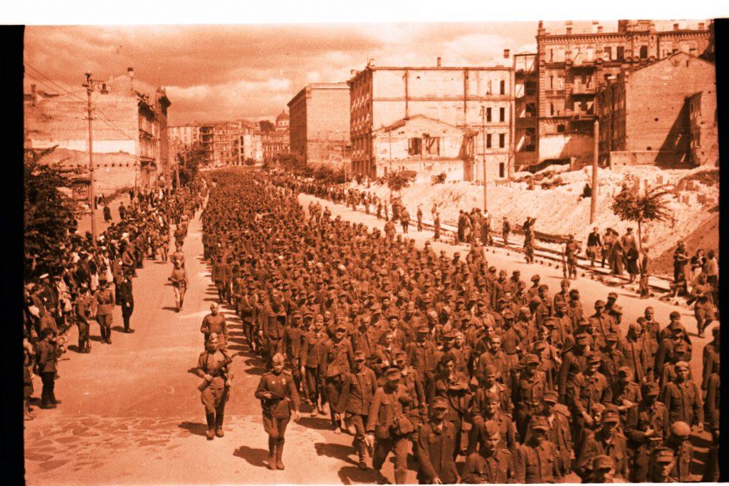 Военно-пленные фашисты на Хрещатике