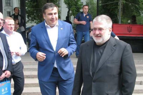 Саакашвили и Коломойский