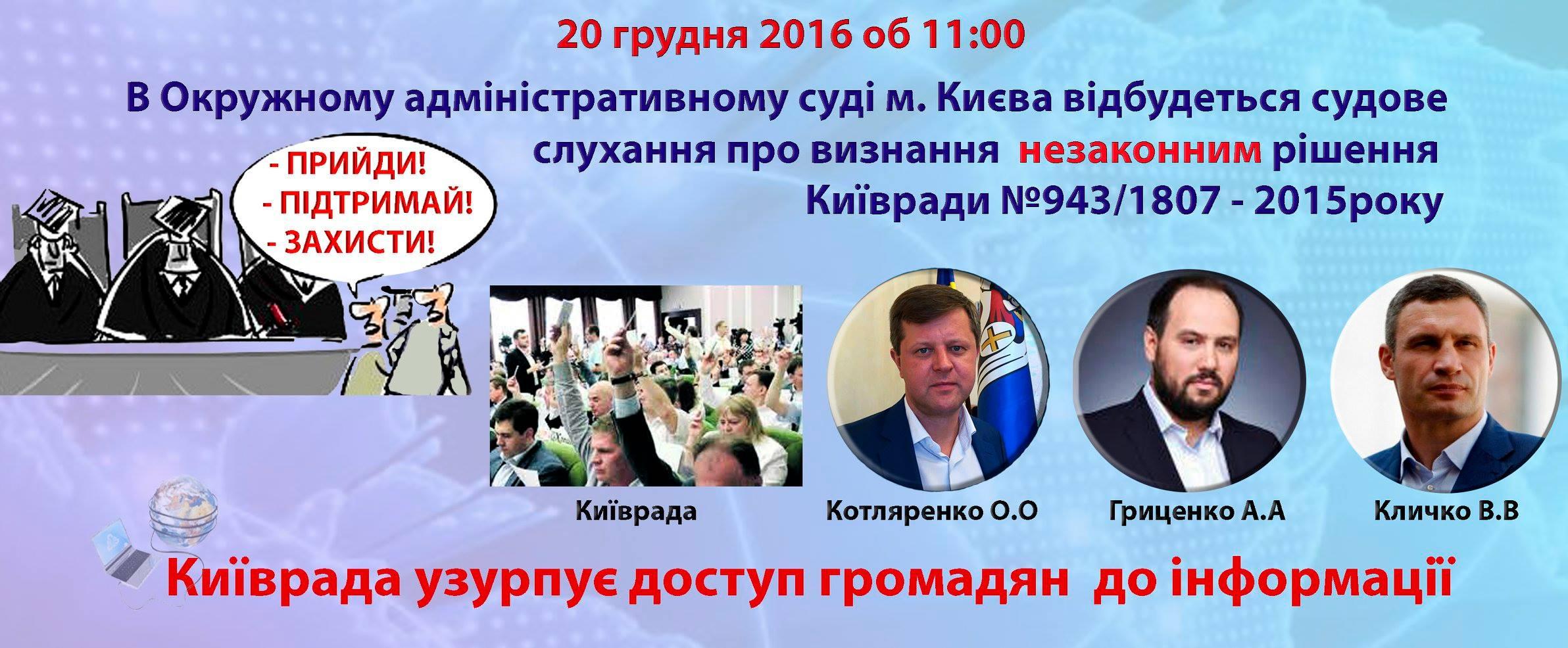 Київрада узурпує доступ до інформації громадян