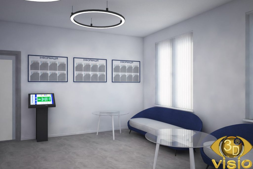 3D visualization of the waiting room