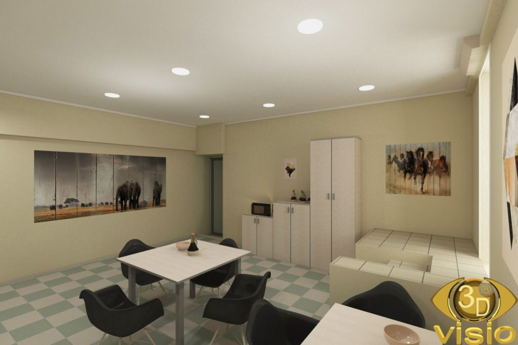 3D office interior visualization