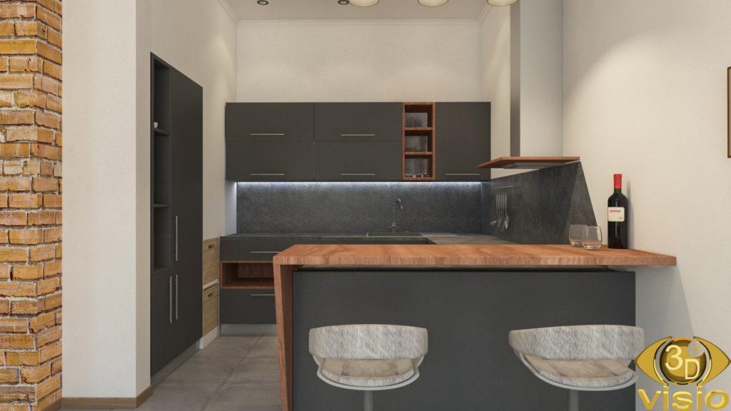 Визуализация зала в квартире 100 кв.м