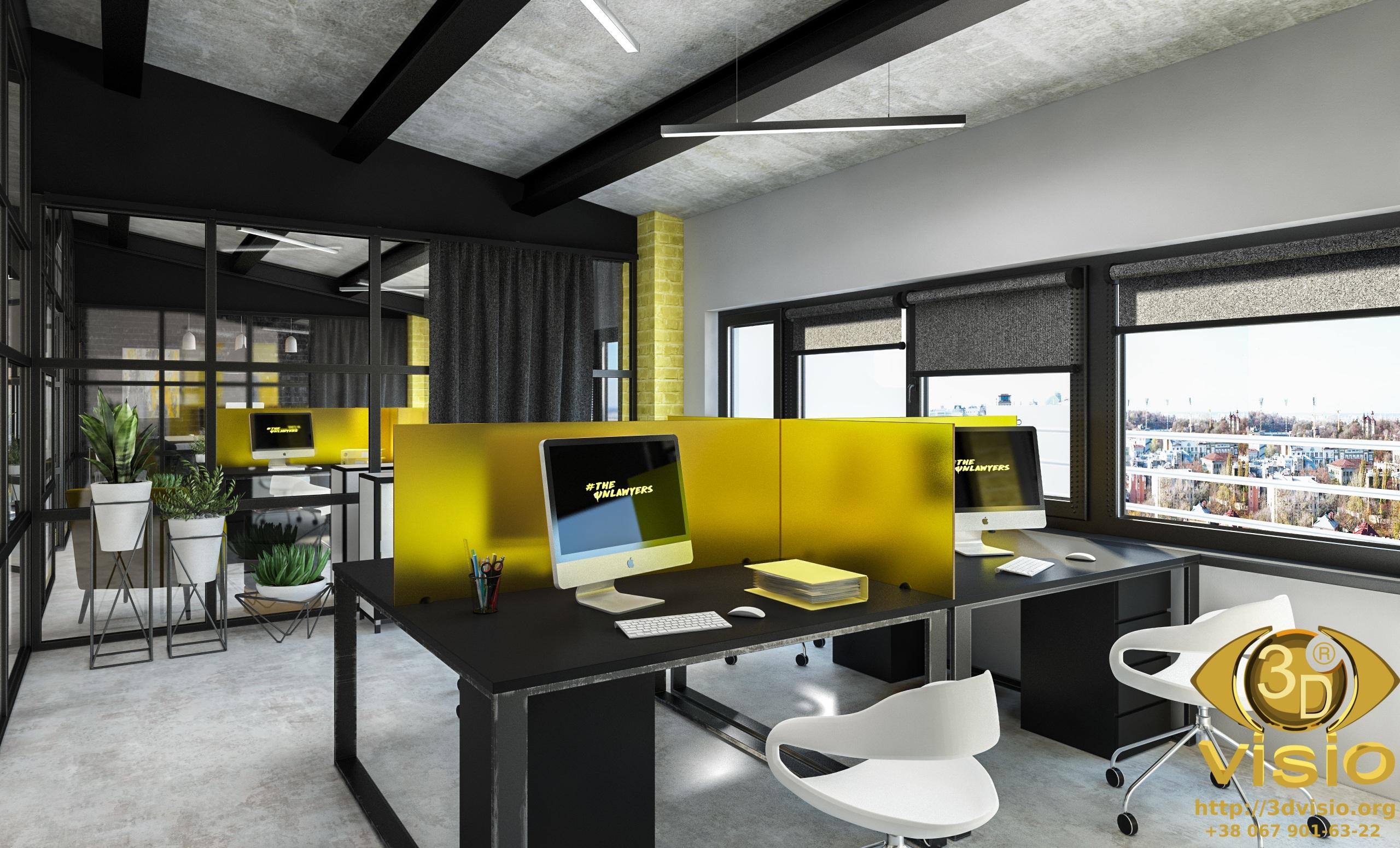3D визуализация офисного помещения