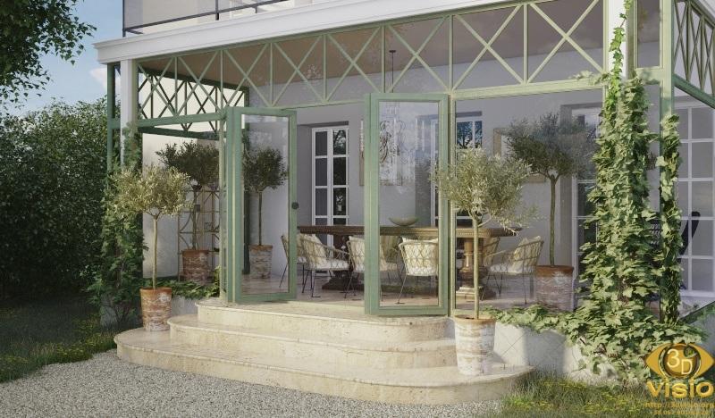 3D Визуализация зимнего сада