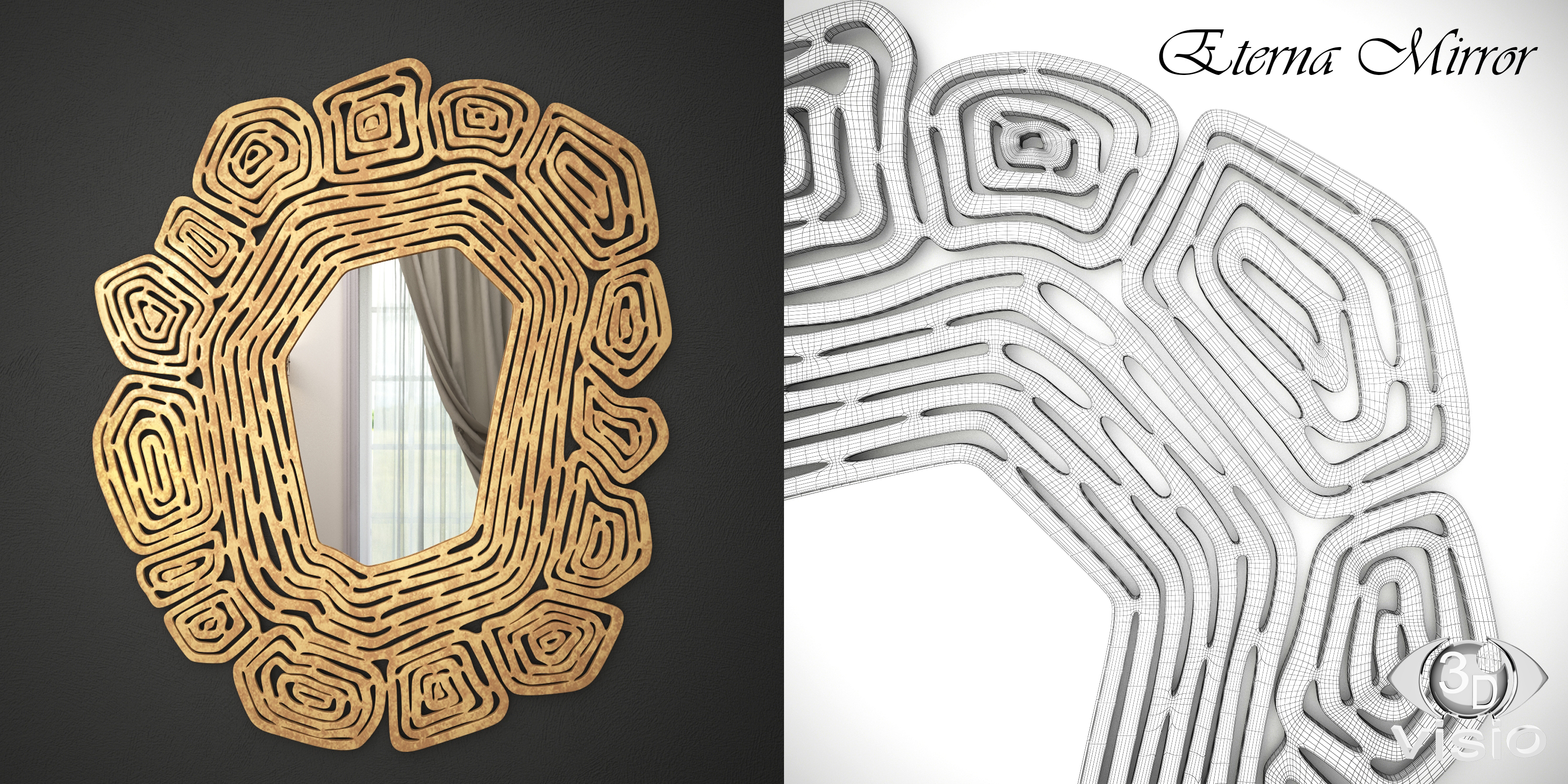 "3D модель ""Зеркало Eterna фирмы Cazarina Interiors"""